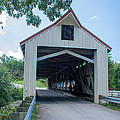 Ashtabula Collection - Mechanicsville Road Covered Bridge 7k0207 by Guy Whiteley