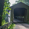 Ashtabula Collection - Middle Road Covered Bridge 7k01959 by Guy Whiteley