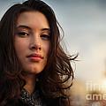 Asian Beauty Girl by Konstantin Sutyagin