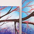 Asian Bloom Triptych 1 2 by Darren Robinson