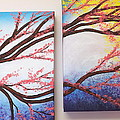 Asian Bloom Triptych 2 3 by Darren Robinson