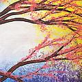 Asian Bloom Triptych 3 by Darren Robinson