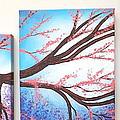 Asian Bloom Triptych by Darren Robinson