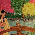 Asian Girl On Bridge  by Theresa Shaw