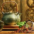 Asian Herb Tea by Sandra Cunningham