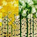 Aspen Colorado 4 Seasons Abstract by Andee Design