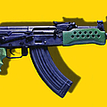 Assault Rifle Pop Art - 20130120 - V2 by Wingsdomain Art and Photography