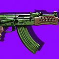 Assault Rifle Pop Art - 20130120 - V4 by Wingsdomain Art and Photography