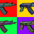 Assault Rifle Pop Art Four - 20130120 by Wingsdomain Art and Photography
