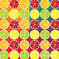 Assorted Citrus Pattern by Gaspar Avila