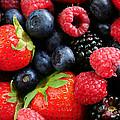 Assorted fresh berries by Elena Elisseeva