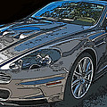 Aston Martin Db S Coupe 3/4 Front View by Samuel Sheats