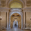 Astor Hall At The New York Public Library by Susan Candelario