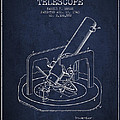 Astronomical Telescope Patent From 1943 - Navy Blue by Aged Pixel