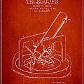 Astronomical Telescope Patent From 1943 - Red by Aged Pixel