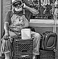 At His Office - Grandpa Elliott Small Bw by Steve Harrington