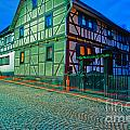 At Night In Thuringia Village Germay by Stephan Pietzko