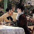 At Pere Lathuille's by Edouard Manet
