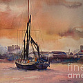 At Rest On The Thames London by Beatrice Cloake