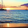 At Sea Sunset by Robert  Aycock