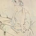 At The Cafe by Henri de Toulouse-Lautrec
