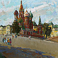 At The Cathedral Of Vasily The Blessed by Juliya Zhukova