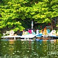 At The Cottage Dock by Les Palenik