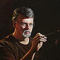 At The Easel Self Portrait by Glenn Beasley
