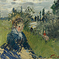 At The Meadow. Vetheuil by Claude Monet