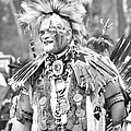 At The Powwow - Black And White by Kim Bemis