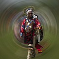 At The Powwow Sault Ste Marie Michigan by Evie Carrier