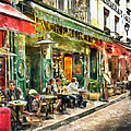 At The Restaurant In Paris by Marian Voicu