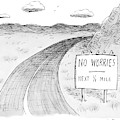 At The Side Of A Stretch Of Rural Road by Roz Chast