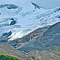 Athabasca Glacier Along Icefields Parkway In Alberta by Ruth Hager