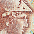 Athena On Banknote by Grigorios Moraitis