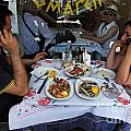 Athenians Eat Lunch by Ros Drinkwater