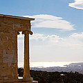 Athens And The Sea From The Acropolis by Anthony Doudt