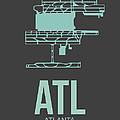 Atl Atlanta Airport Poster 2 by Naxart Studio