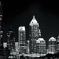 Atlanta Black And White Night by Frozen in Time Fine Art Photography