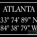 Atlanta Coordinates by Voros Edit