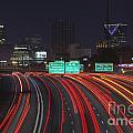 Atlanta Interstae 85 Night by Trekkerimages Photography