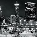 Atlanta Panoramic Black And White by Frozen in Time Fine Art Photography