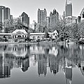 Atlanta Reflecting In Black And White by Frozen in Time Fine Art Photography