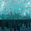 Atlanta Skyline Abstract 2 by Bekim Art