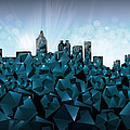 Atlanta Skyline Geometry 3 by Bekim Art