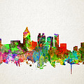 Atlanta Skyline Watercolor by Bekim Art
