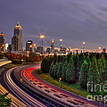 Atlanta Sundown Night Lights Art by Reid Callaway