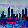 Atlanta Watercolor Skyline by Naxart Studio