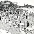 Atlantic City Boardwalk 1940 by Ira Shander