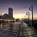 Atlantic City Boardwalk In The Morning by Bill Cannon